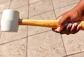 Photo 1 - 14 oz White Rubber Mallet